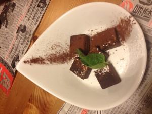Postre restaurant tapes Momos Barcelona